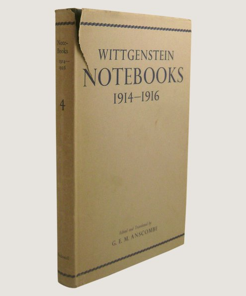 Notebooks 1914-1916.  Wittgenstein, Ludwig.