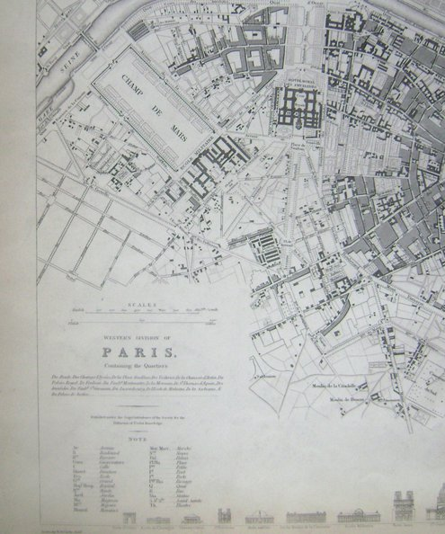Western Division of Paris Containing the Quartiers [with] Eastern Division of Paris Containing the Quartiers [2 joined plans].  Clark, W. B. [drawn by].